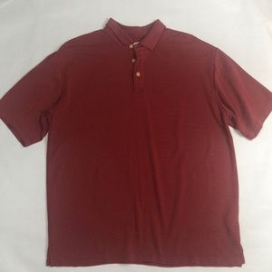 Jamaica Jaxx mens stripe polo shirt size L